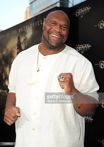 Actor Bob Sapp arrives at the premiere of Lionsgate Films' Conan The Barbarian on August 11 2011 in Los Angeles California