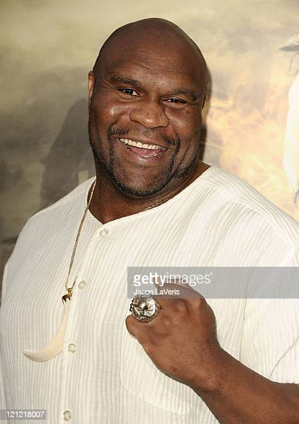 Actor Bob Sapp attends the premiere of Conan The Barbarian at Regal 14 at LA Live Downtown on August 11 2011 in Los Angeles California