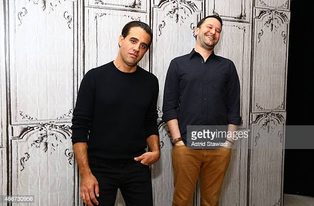 Actor Bobby Cannavale and director Dan Fogelman attend AOL Build Speaker Series Bobby Cannavale And Dan Fogelman Danny Collins at AOL Studios In New...