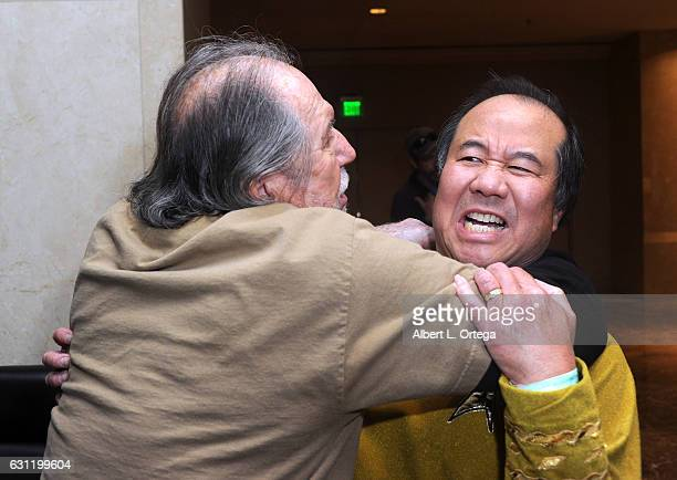 Actor Bobby Clark and cosplayer David Cheng attend The Hollywood Show held at The Westin Los Angeles Airport on January 7 2017 in Los Angeles...