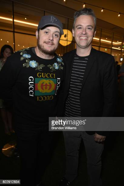 Actor Bobby Mort and a guest attend the party for the screening of Mr Mercedes during the ATT AUDIENCE Network Summer TCA Panels at The Beverly...