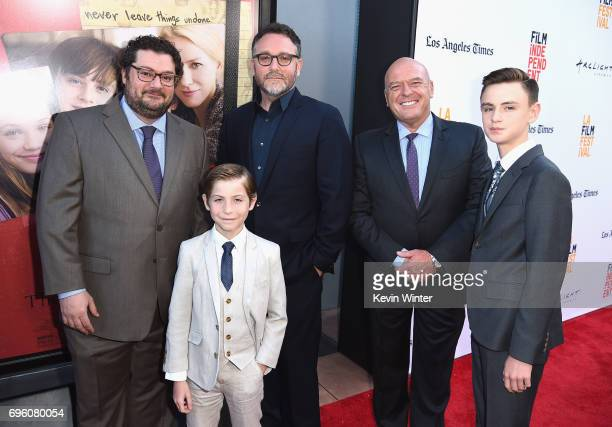 Actor Bobby Moynihan actor Jacob Tremblay director Colin Trevorrow actor Dean Norris and actor Jaeden Lieberher attend the opening night premiere of...