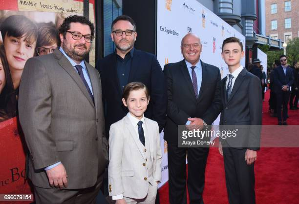 Actor Bobby Moynihan director Colin Trevorrow actor Jacob Tremblay actor Dean Norris and actor Jaeden Lieberher attend the opening night premiere of...