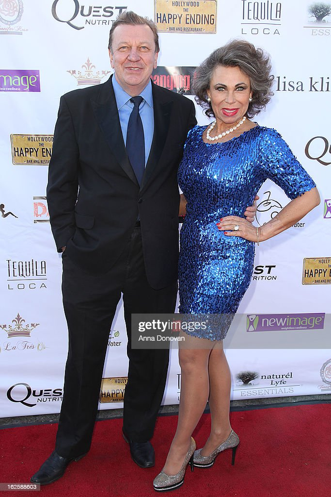 Actor Bogdan Szumilas and Wonka De Jong attends the Los Angeles premiere of the movie 'Changing Hands' at The Happy Ending Bar & Restaurant on February 24, 2013 in Hollywood, California.