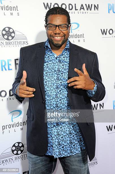 """Actor Bone Hampton arrives for the LA premiere of Pure Flix's """"Woodlawn"""" held at Regency Bruin Theater on October 5, 2015 in Westwood, California."""