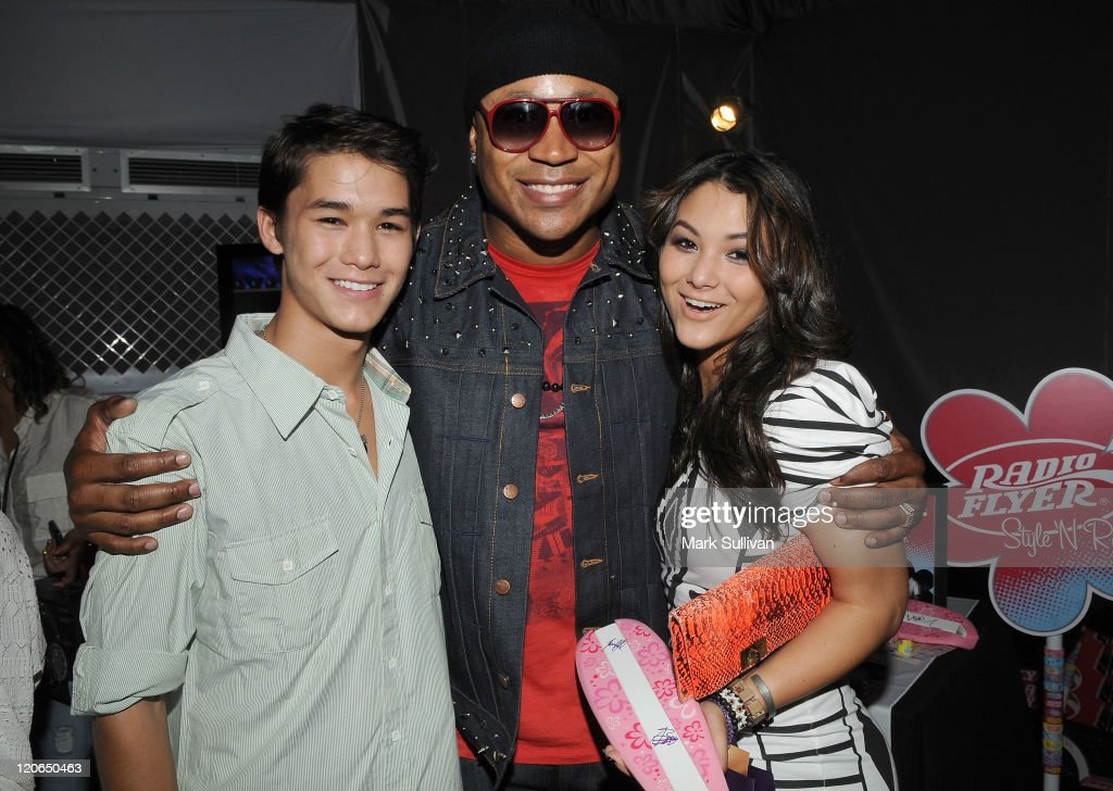 Actor Boo Boo Stewart, actor/rapper LL Cool J and actress Fivel Stewart attend Backstage Creations Celebrity Retreat during Teen Choice 2011 day 2 at Gibson Amphitheatre on August 7, 2011 in Universal City, California.