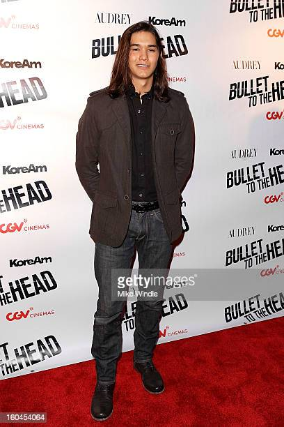 Actor Boo Boo Stewart attends KoreAm Journal and Audrey Magazine's advanced screening of 'Bullet To The Head' at CGV Cinemas on January 31 2013 in...