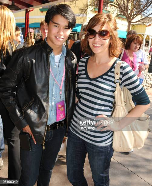 Actor Booboo Stewart and actress Autumn Reeser attend Pink's Grand Opening at Knott's Berry Farm on February 28 2010 in Buena Park California