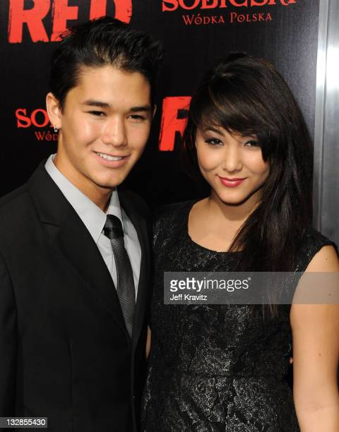 Actor BooBoo Stewart and Actress Fivel Stewart arrive at the Los Angeles Special Screening of RED held at Grauman's Chinese Theatre on October 11...