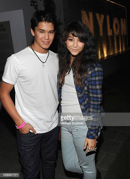 Actor BooBoo Stewart and Fivel Stewart attend the NYLON Magazine Denim Issue Launch Party hosted by Drew Barrymore at The London Hotel on August 10...