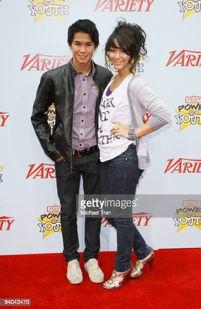 Actor Booboo Stewart and his sister Fivel Stewart arrive to Variety's 3rd Annual Power of Youth event held at the Paramount Studios backlot on...