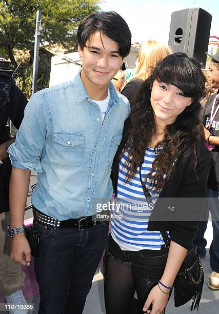Actor BooBoo Stewart and sister Fivel Stewart attend Pink's Grand Opening at Knott's Berry Farm on February 28 2010 in Buena Park California