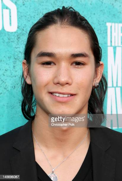Actor Booboo Stewart arrives at the 2012 MTV Movie Awards held at Gibson Amphitheatre on June 3 2012 in Universal City California