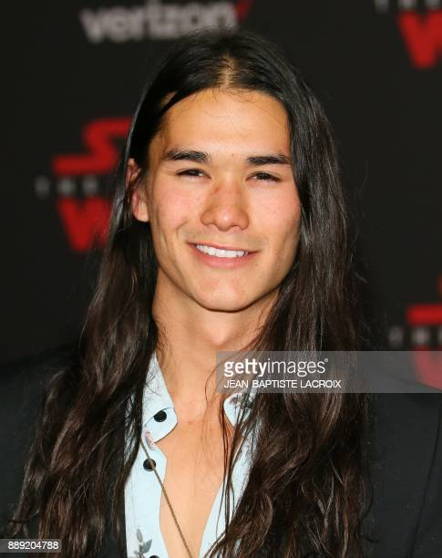Actor Booboo Stewart arrives for the premiere of Disney Pictures and Lucasfilm's 'Star Wars The Last Jedi' at The Shrine Auditorium in Los Angeles on...