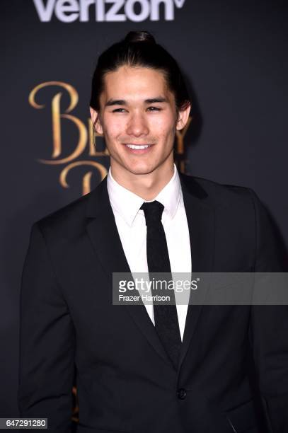Actor Booboo Stewart attends Disney's 'Beauty and the Beast' premiere at El Capitan Theatre on March 2 2017 in Los Angeles California