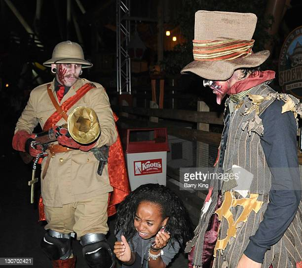 Actor Booboo Stewart attends Knott's Scary Farm Halloween Haunt on October 27 2011 in Buena Park California