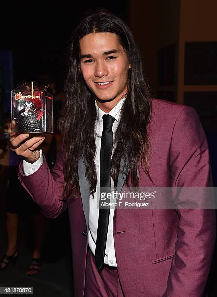 Actor Booboo Stewart attends the after party for the premiere of Disney Channel's 'Descendants' at Walt Disney Studios Main Theater on July 24 2015...