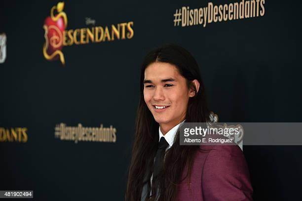 Actor Booboo Stewart attends the premiere of Disney Channel's 'Descendants' at Walt Disney Studios on July 24 2015 in Burbank California