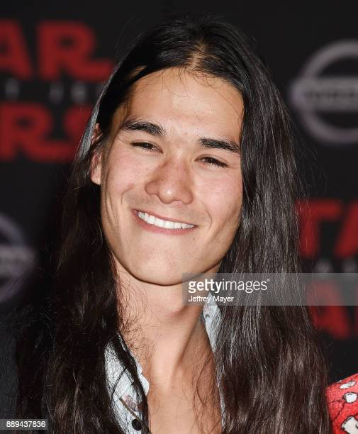 Actor Booboo Stewart attends the premiere of Disney Pictures and Lucasfilm's 'Star Wars The Last Jedi' at The Shrine Auditorium on December 9 2017 in...