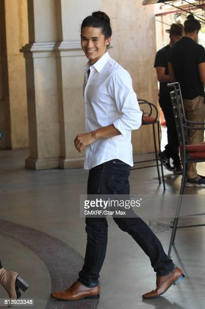 Actor Booboo Stewart is seen on July 12 2017 in Los Angeles California