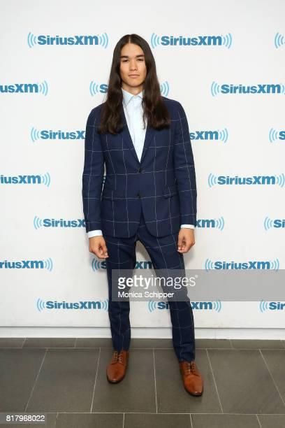 Actor Booboo Stewart visits SiriusXM Studios on July 18 2017 in New York City