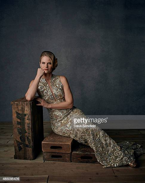 Actor Border Joelle Carter is photographed for Emmy magazine on December 1 2014 in Los Angeles California