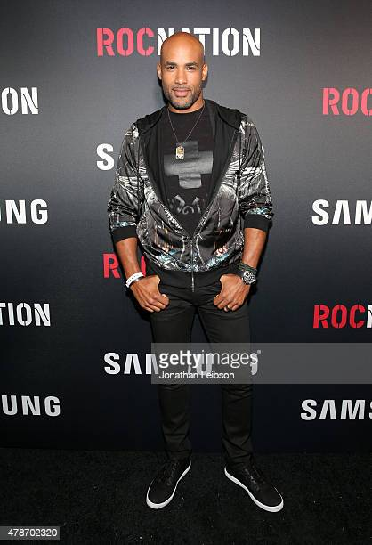 Actor Boris Kodjoe attends a Roc Nation curated Samsung exclusive concert at Samsung Studio LA on June 26 2015 in Los Angeles California