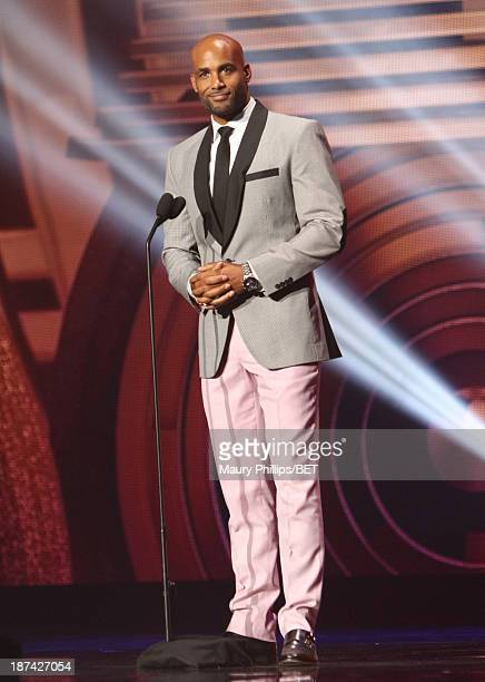 Actor Boris Kodjoe onstage at the Soul Train Awards 2013 at the Orleans Arena on November 8 2013 in Las Vegas Nevada