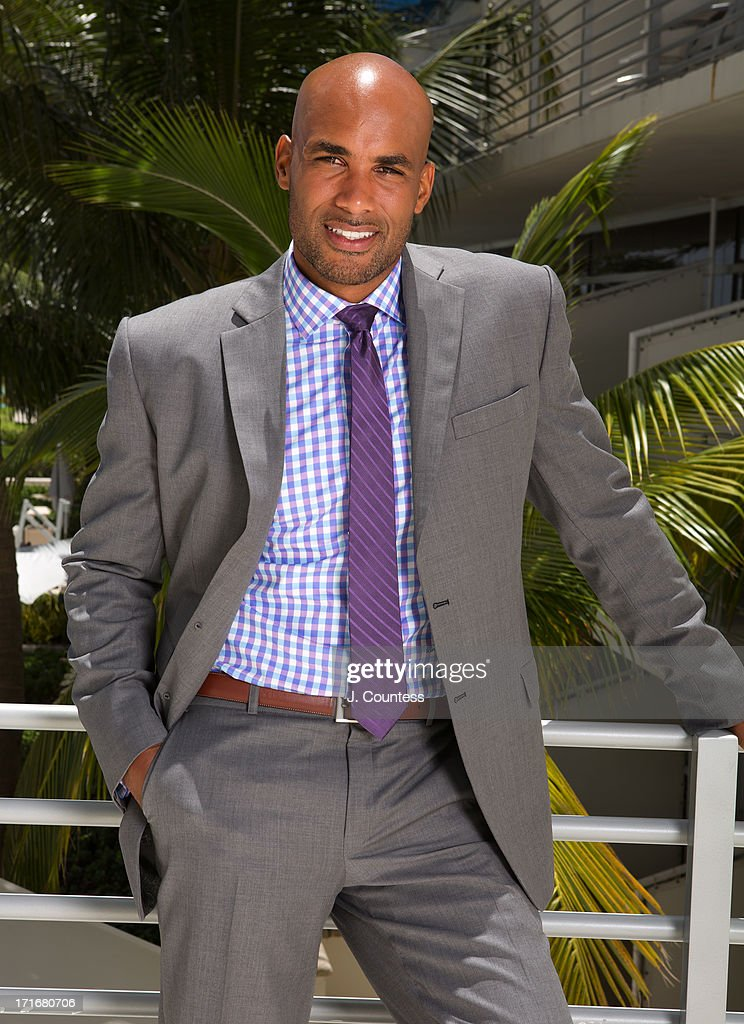 Actor Boris Kodjoe poses during the 2013 American Black Film Festival on June 20, 2013 in Miami, Florida.