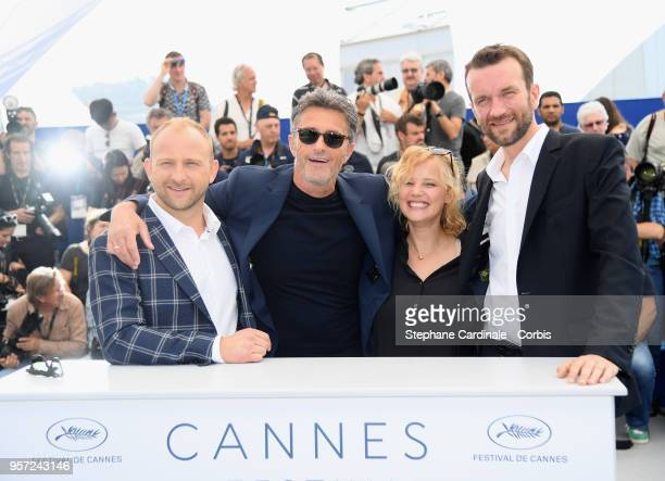 "Actor Borys Szyc, director Pawel Pawlikowski, actress Joanna Kulig and actor Tomasz Kot attend the photocall for ""Cold War "" during the 71st annual..."