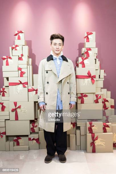 Actor Bosco Wong poses for a photograph on the red carpet at the Burberry Pacific Place event on 03 November 2016 in Hong Kong, China.
