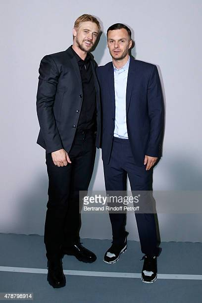 Actor Boyd Holbrook and Fashion designer Kris Van Assche pose Backstage after the Dior Homme Menswear Spring/Summer 2016 show as part of Paris...
