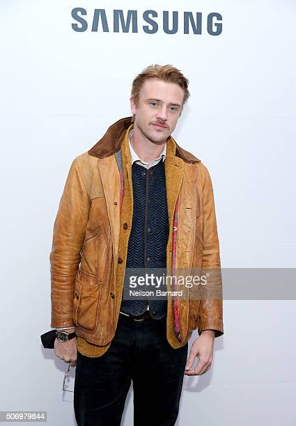 Actor Boyd Holbrook attends The Free World Cocktails at the Samsung Studio during the 2016 Sundance Film Festival on January 26 2016 in Park City Utah