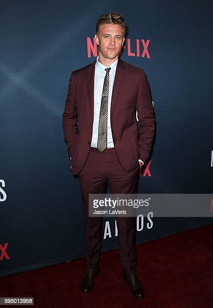 Actor Boyd Holbrook attends the season 2 premiere of 'Narcos' at ArcLight Cinemas on August 24 2016 in Hollywood California