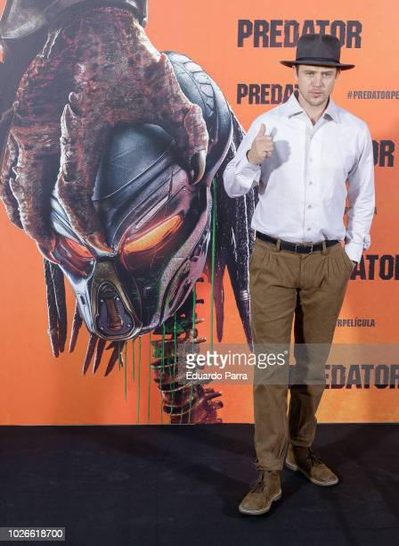 Actor Boyd Holbrook attends the 'The Predator' photocall at Villamagna hotel on September 4, 2018 in Madrid, Spain.