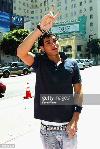 Actor Brad Bufanda arrives at the premiere of Warner Bros 'A Cinderella Story' on July 10 2004 at the Chinese Theatre in Los Angeles California