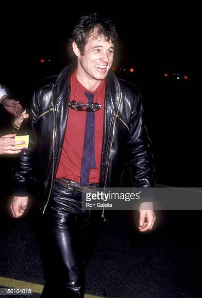 Actor Brad Davis attends 'The Rocky Horror Picture Show' Opening Night Peformance on February 24 1981 at the Aquarius Theatre in Hollywood California