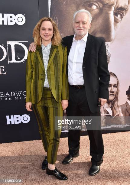 US actor Brad Dourif and his daughter actress Fiona Dourif arrive for the Los Angeles premiere of HBO Films Deadwood at the Cinerama Dome in...