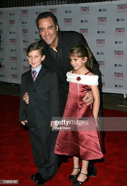 Actor Brad Garrett and children arrive at the 33rd Annual People's Choice Awards held at the Shrine Auditorium on January 9 2007 in Los Angeles...