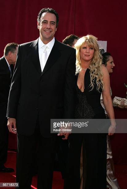 Actor Brad Garrett and Guest Jill Diven arrive at the 57th Annual Emmy Awards held at the Shrine Auditorium on September 18 2005 in Los Angeles...