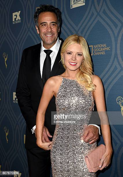 Actor Brad Garrett and Isaball Quella attend the FOX Broadcasting Company FX National Geographic And Twentieth Century Fox Television's 68th...