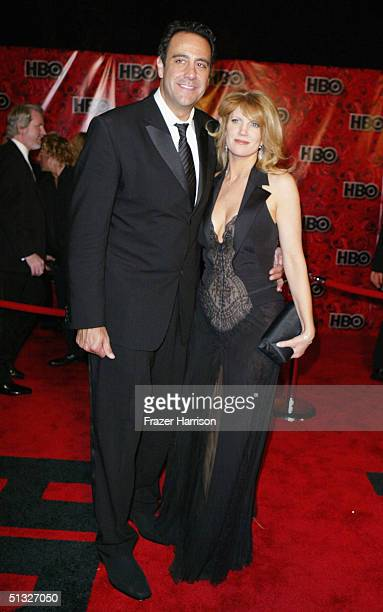 Actor Brad Garrett and wife Jill Diven arrive at HBOS post Emmy party following the 56th annual primetime Emmy Awards held at the Pacific Design...