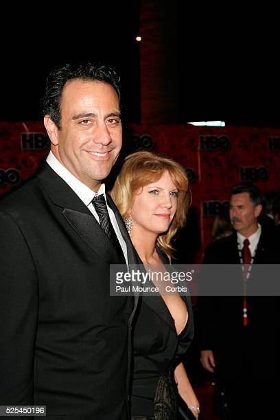 Actor Brad Garrett of 'Everybody Loves Raymond' and guest arrive at the HBO party celebrating the 56th Annual Primetime Emmy Awards at the Pacific...