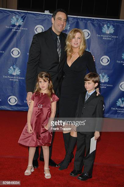 Actor Brad Garrett wife Jill Diven and children arrive at the 32nd annual People's Choice Awards held at the Shrine Auditorium