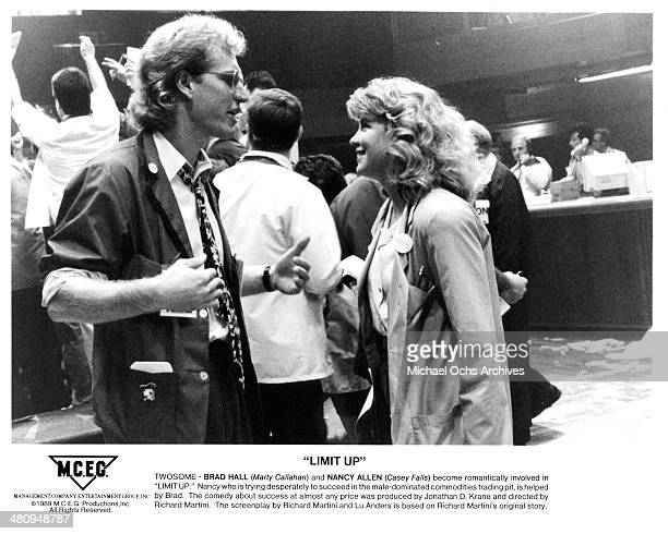 Actor Brad Hall and actress Nancy Allen in a scene from the movie 'Limit Up' circa 1996