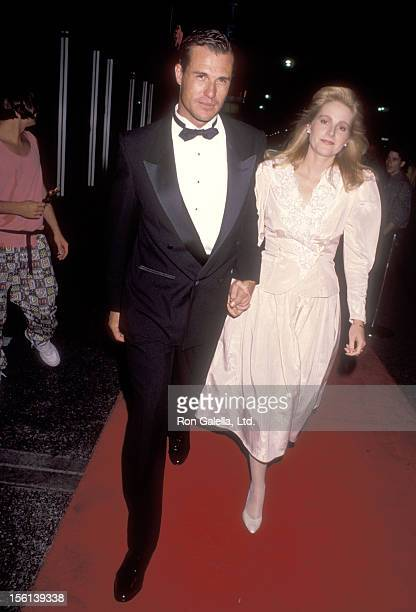 Actor Brad Johnson and wife Laurie Johnson attend the Fourth Annual Commitment to Life Gala to Benefit AIDS Project Los Angeles on September 7 1990...