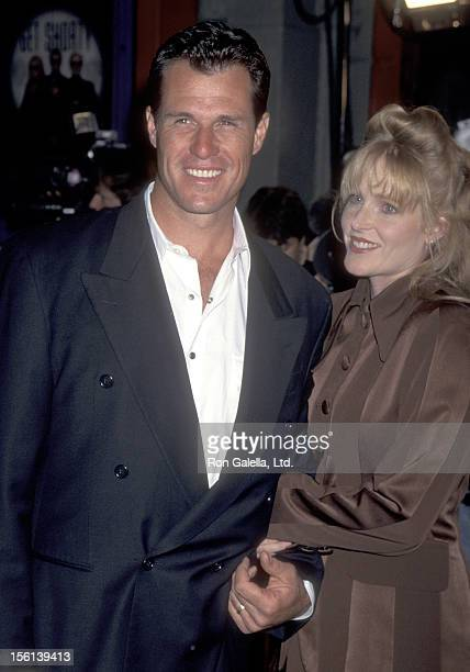 Actor Brad Johnson and wife Laurie Johnson attend the 'Get Shorty' Hollywood Premiere on October 12 1995 at Mann's Chinese Theatre in Hollywood...