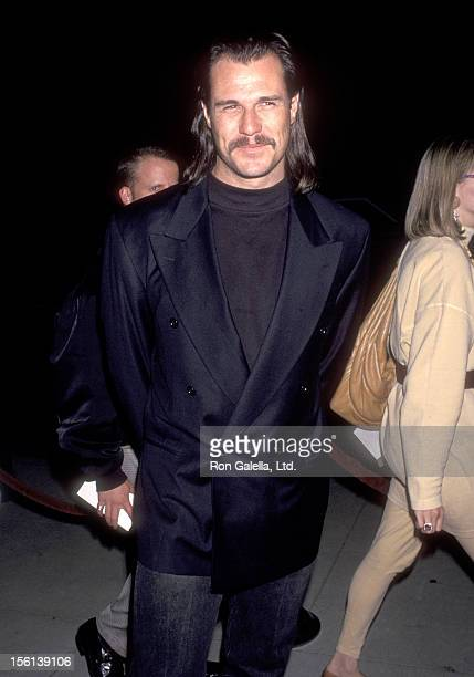 Actor Brad Johnson attends the 'Geronimo An American Legend' Beverly Hills Premiere on December 2 19923 at Academy Theatre in Beverly Hills California