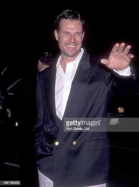 Actor Brad Johnson attends the 'Titanic' Hollywood Premiere on December 14 1997 at Mann's Chinese Theatre in Hollywood California