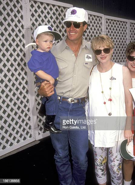 Actor Brad Johnson wife Laurie Johnson and son Shane Johnson attend the Grand Opening of the New Universal Studios Theme Park Ride ET Adventure on...
